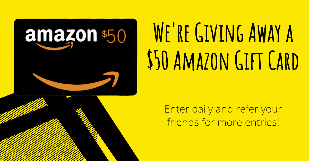 Post banner for $50 Amazon Gift Card Giveaway